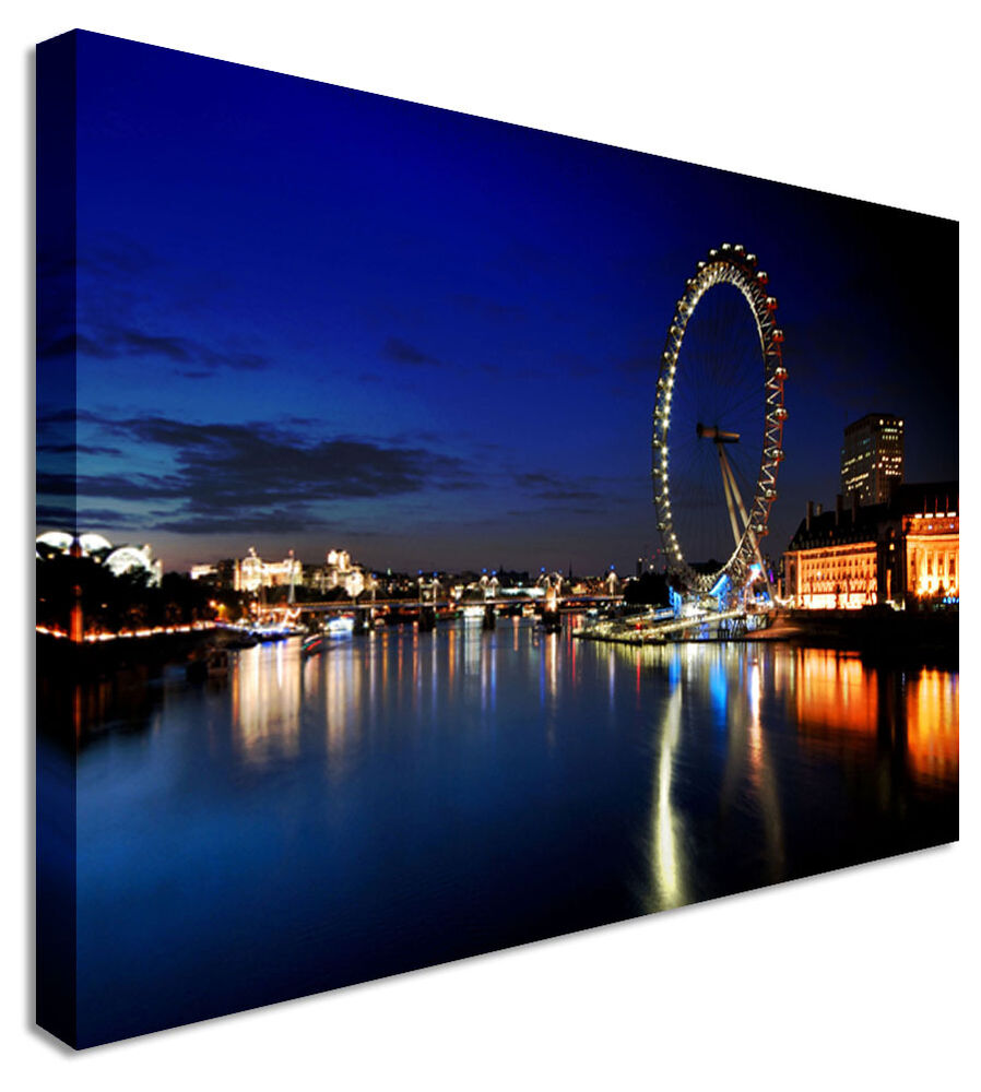 Large Picture London City Night Lights Canvas Art Cheap