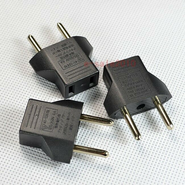new 3pcs us usa to eu europe power plug adapter for. Black Bedroom Furniture Sets. Home Design Ideas