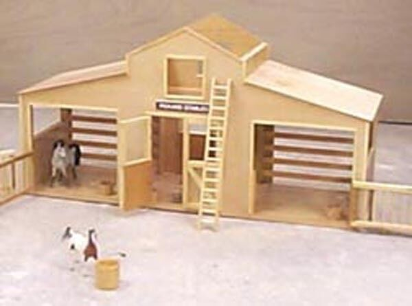 Breyer horse stable woodworking plan ebay for Horse barn plans free