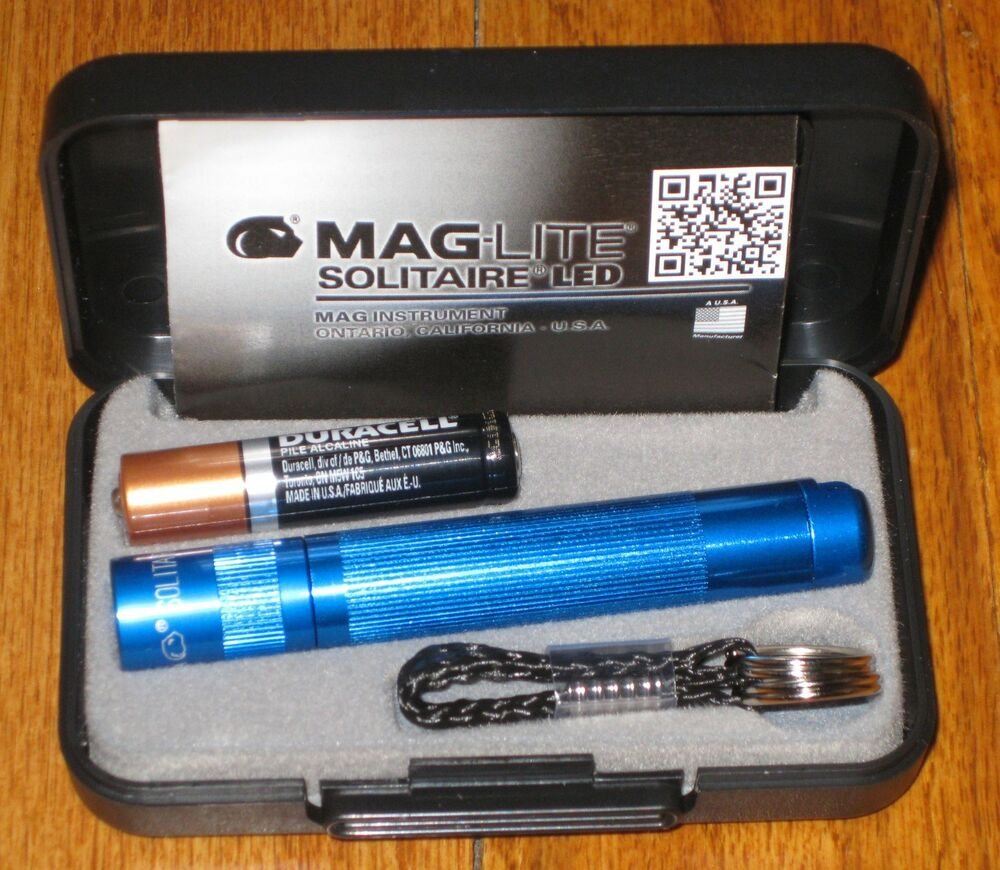 maglite solitaire led blue maglight led mag lite mag light. Black Bedroom Furniture Sets. Home Design Ideas