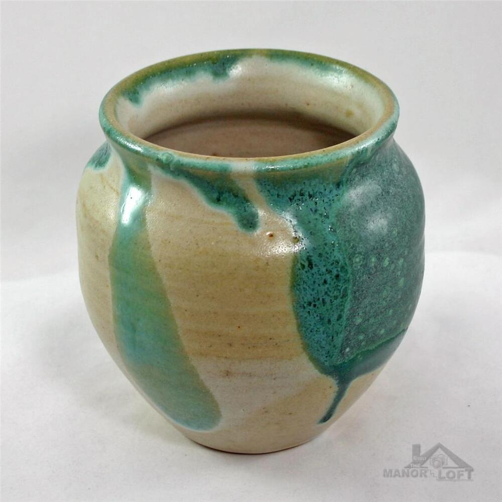 Artist Signed Handcrafted Studio Stoneware Pottery One Of