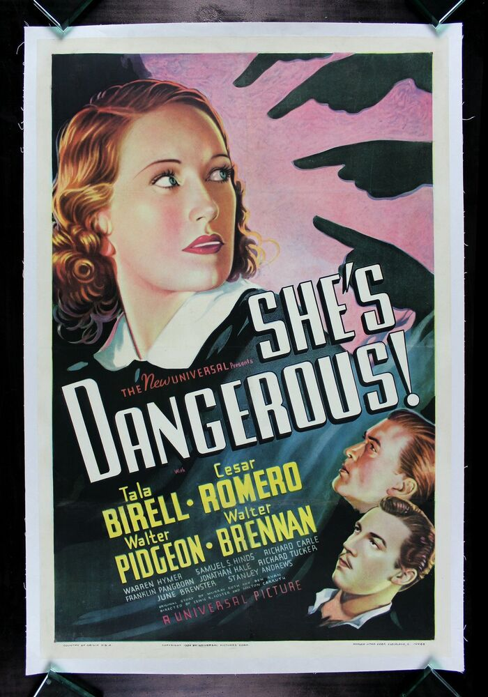 SHE'S DANGEROUS ! * CineMasterpieces ORIGINAL VINTAGE BAD ...