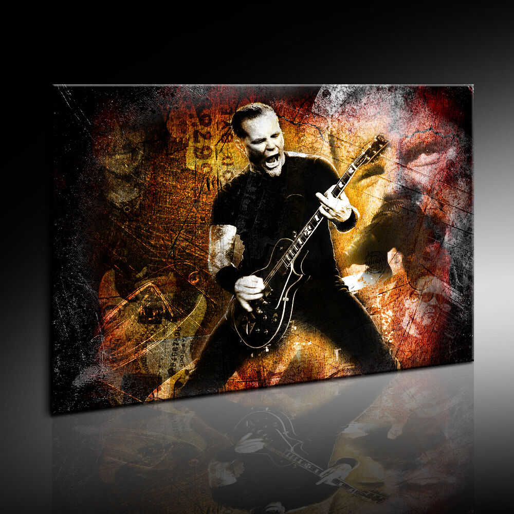 metallica bild auf leinwand kunstdruck wandbild fotoleinwand24 bild k poster ebay. Black Bedroom Furniture Sets. Home Design Ideas