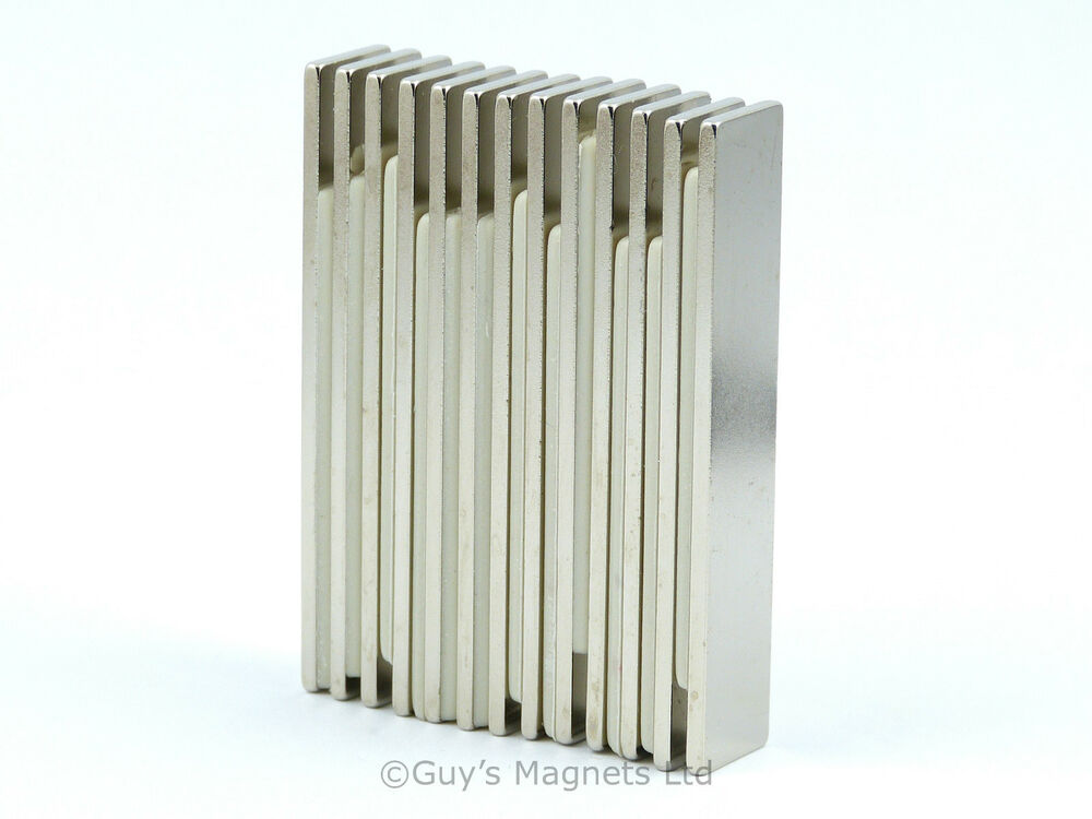10 n35 strong thin 50mm x 10mm x neodymium block for Thin magnets for crafts