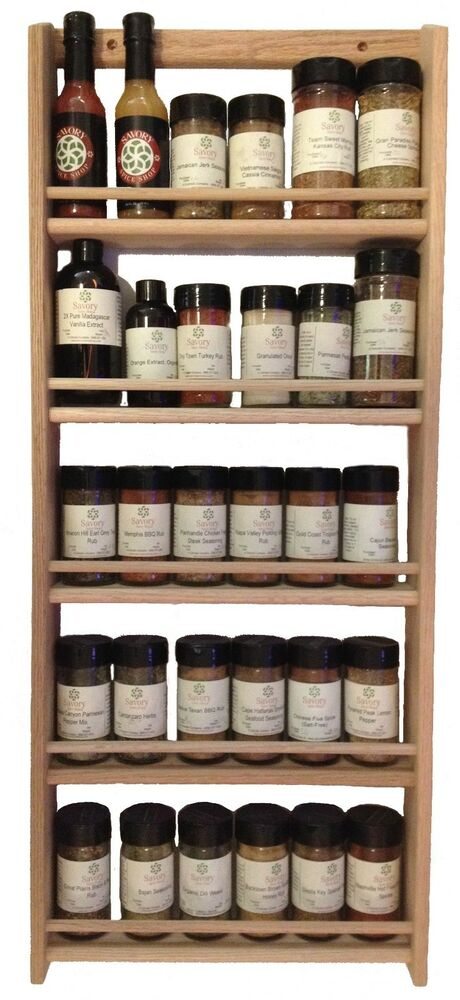 Solid Oak Wood Spice Rack 32 75 Quot H X 13 75 Quot W Wall