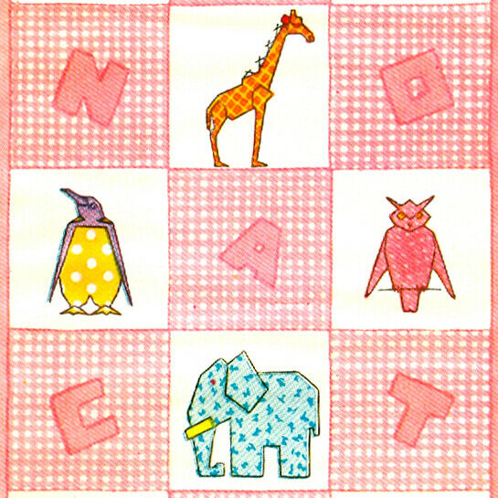 Vintage Patchy Zoo Animals Applique Quilt Pattern Ebay