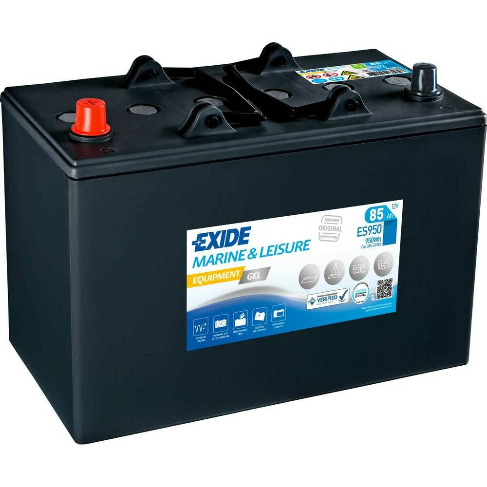 exide equipment gel es950 g85 85ah 12v gelbatterie boot. Black Bedroom Furniture Sets. Home Design Ideas