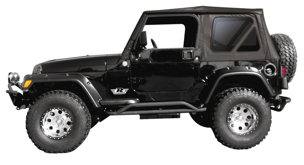 1997 06 jeep wrangler replacement soft top tinted windows rampage 99335 ebay. Black Bedroom Furniture Sets. Home Design Ideas
