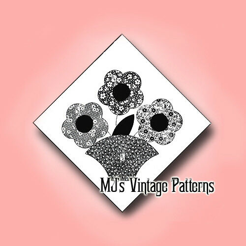 Flower Basket Applique