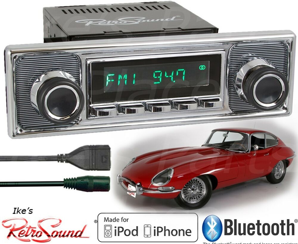 retro sound jaguar model two c radio bluetooth ipod usb. Black Bedroom Furniture Sets. Home Design Ideas