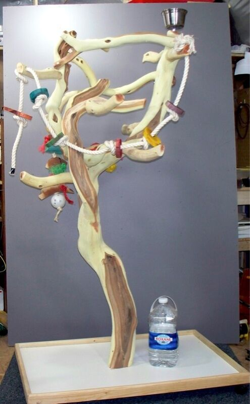 Manzanita Parrot Tree Bird Stand Toy Play Gym Like Java