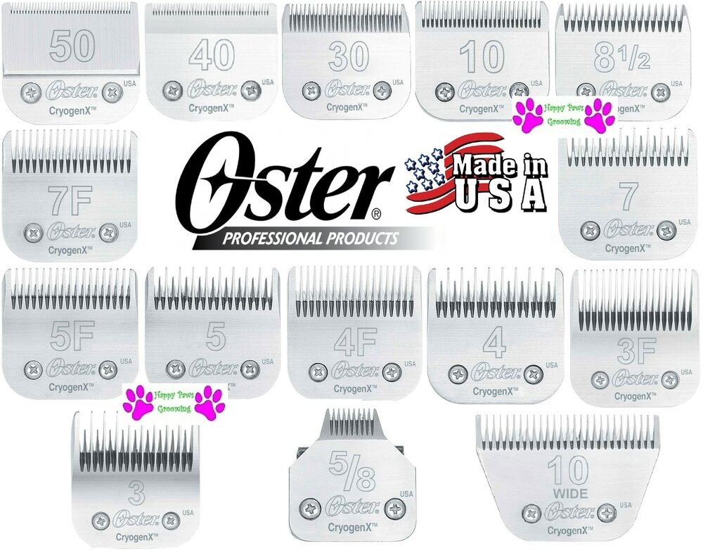 Oster 10 blade scissors fur clippers ebay genuine oster cryogenx a5 clipper blade16 sizesfit most andis agwahl urmus Gallery