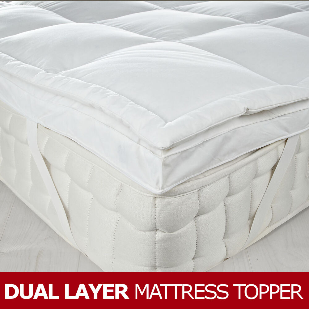 Dual Layer Goose Feather Amp Down Mattress Topper 7cm 3