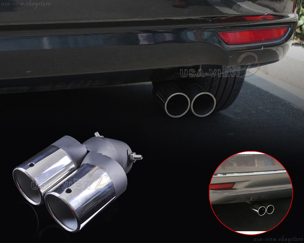 Universal stainless steel chrome rear exhaust tail muffler