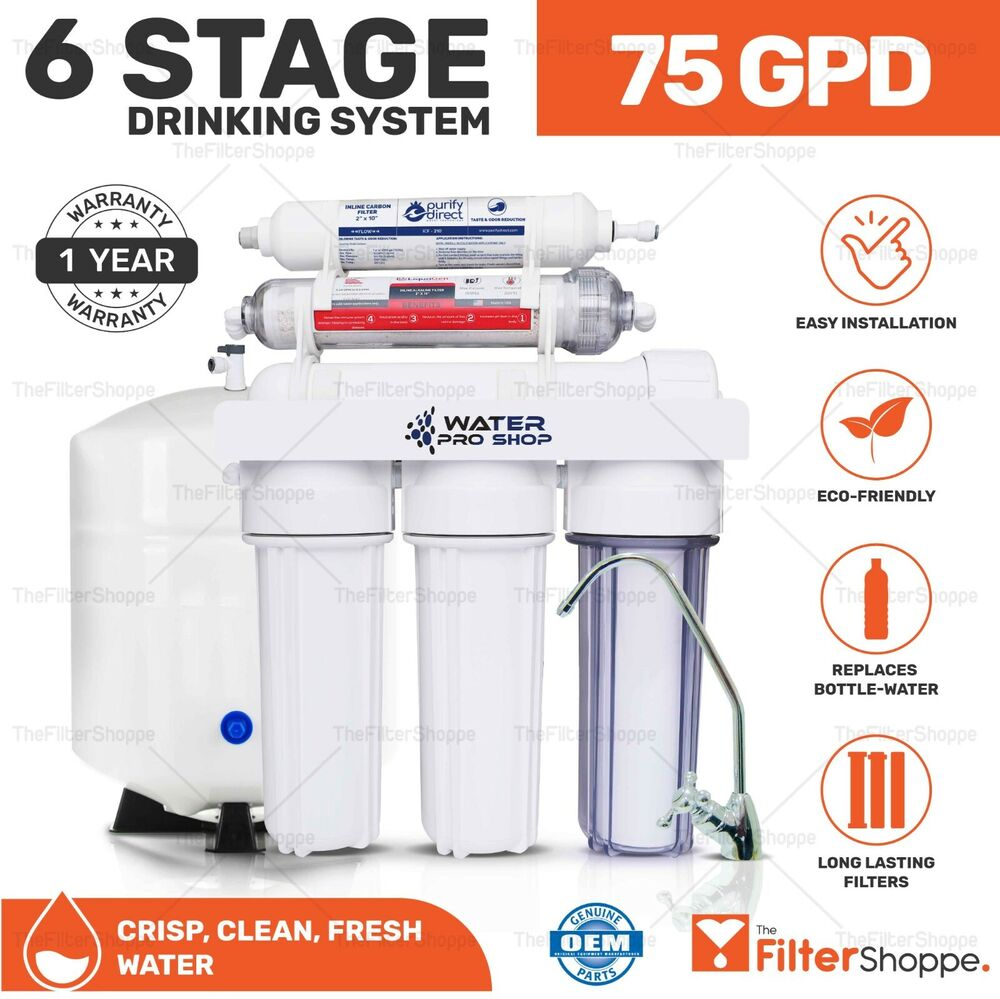 6 Stage Drinking Water Reverse Osmosis Filter System W Ph