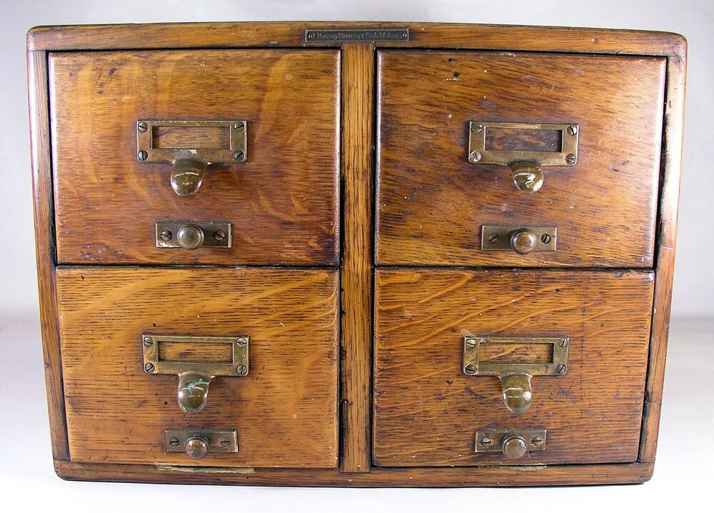 card catalog cabinet antique library bureau solemakers 4 drawer oak index file 13272