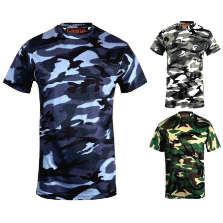 img-Men's Camouflage Short Sleeve T-Shirt Sizes Small to 5XL