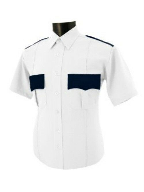 Police security two tone black and white polyester shirt for White non iron dress shirts