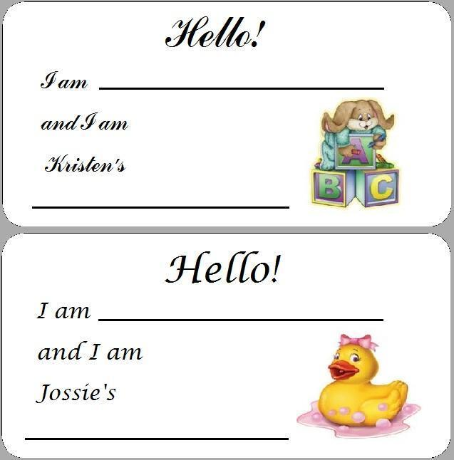 10 personalized baby shower name tags labels decals party favors