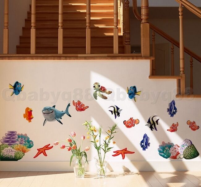 Finding Nemo Colorful Fish Wall Decal Removable Stickers