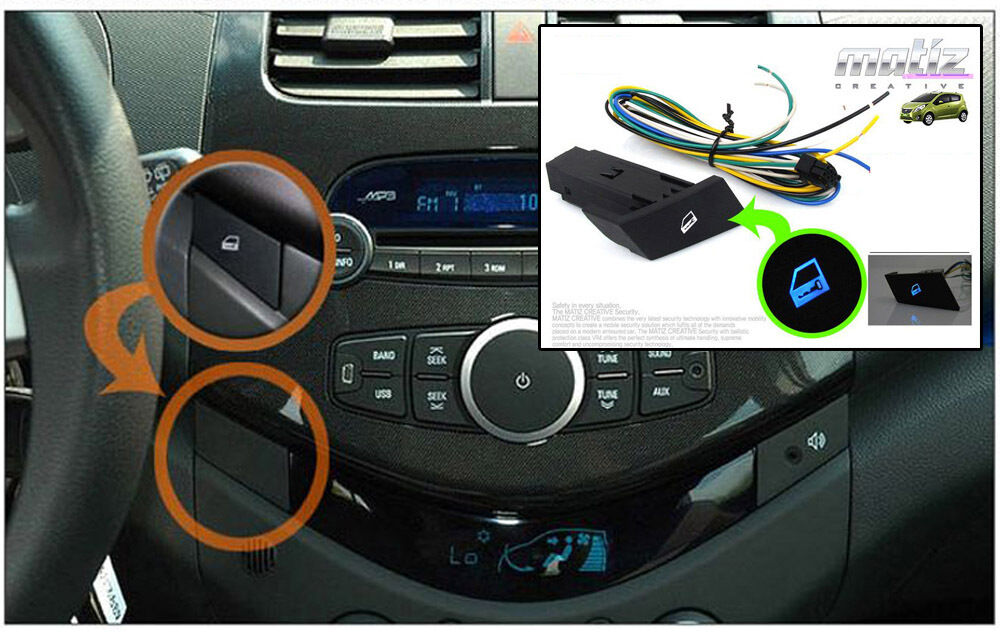 details about front door lock & unlock switch assembly + wiring for 10 11  12 chevy spark