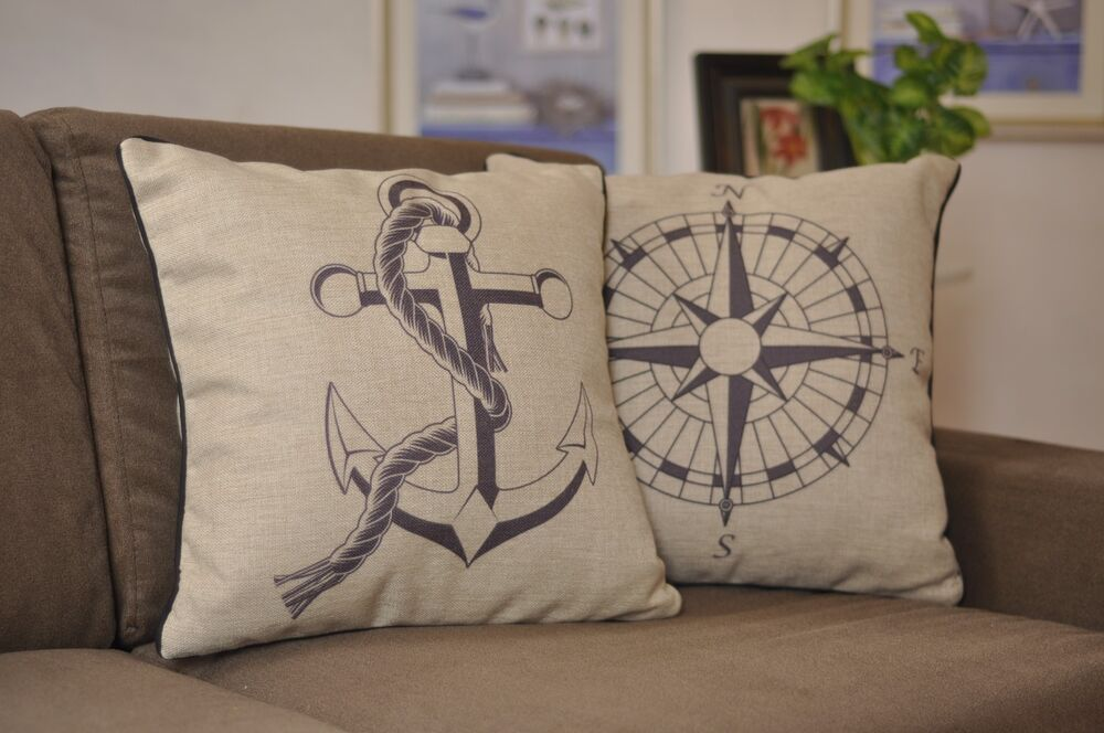Nautical Throw Pillow Cases : 18