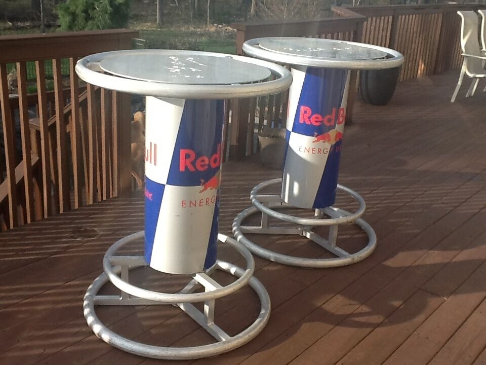 Red Bull Pub Bar Table Great For Pool Area Deck Patio