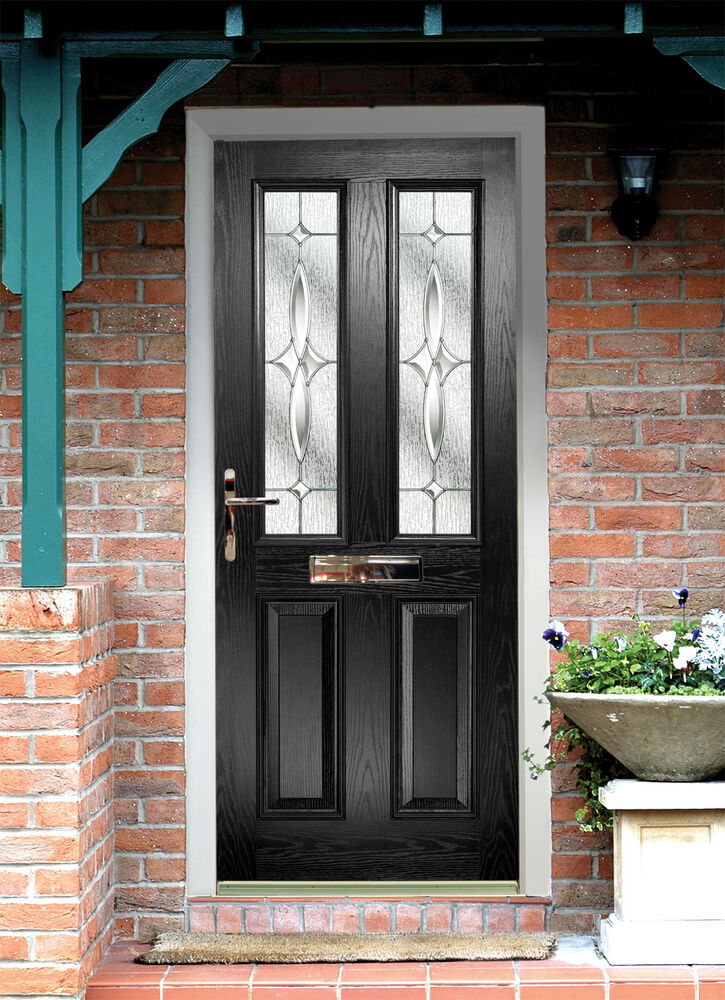 Black composite door made to measure quality black for Pictures of front doors