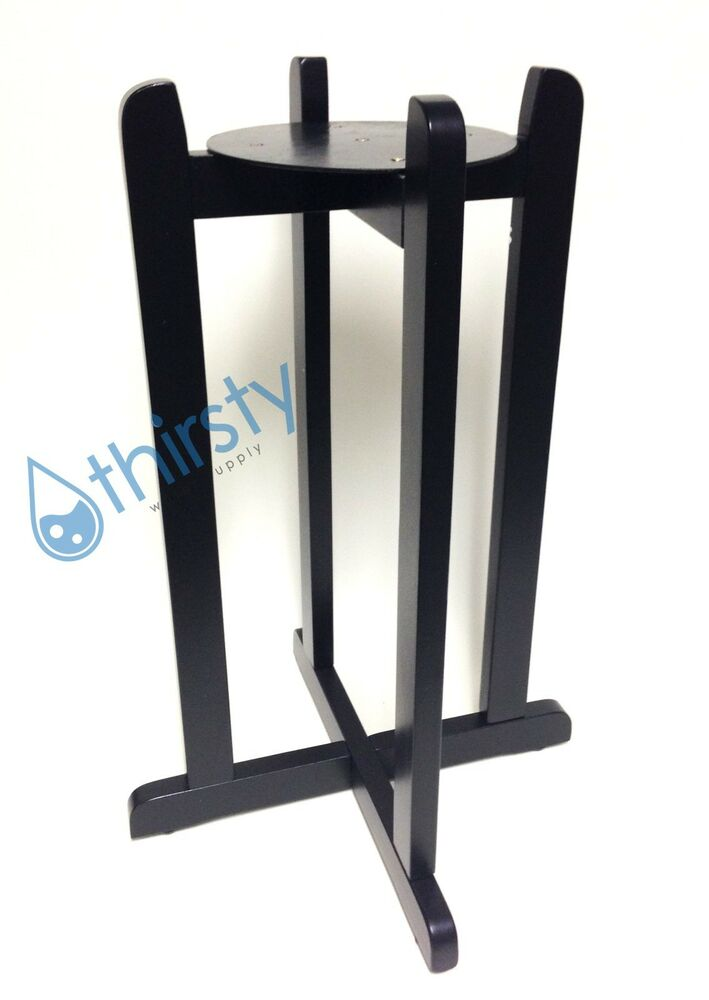 27 Quot Water Crock Floor Stand Porcelain Vase Wood Black