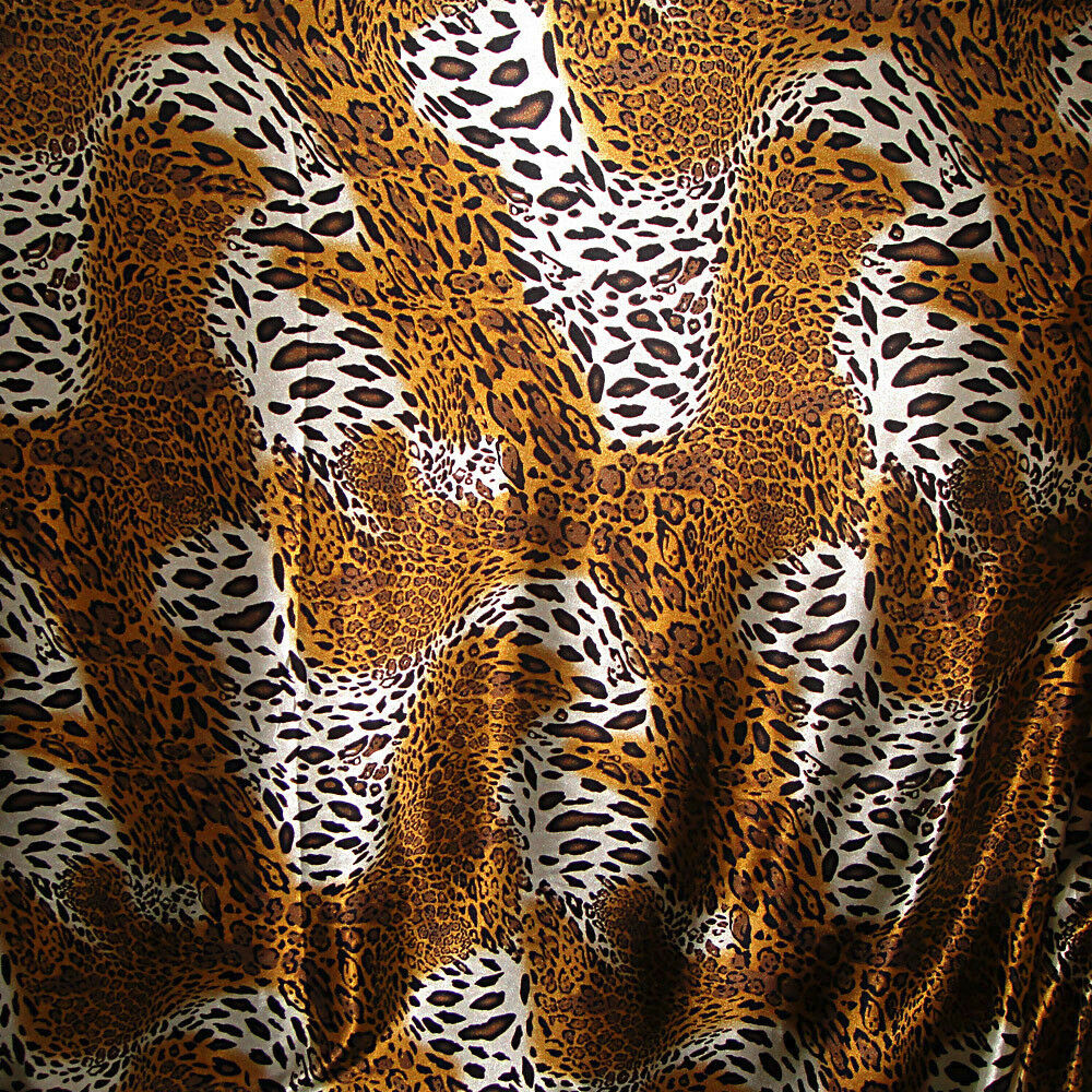 Leopard animal print charmeuse fabric 58 wide by the yard for By the yard fabric
