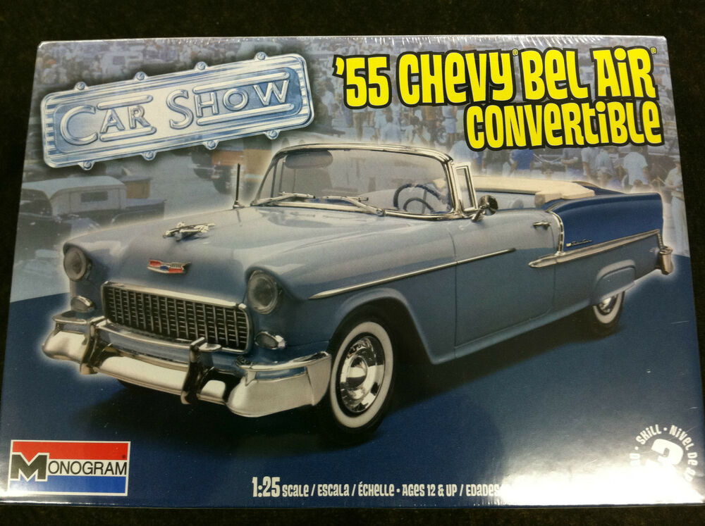 55 Chevy Bel Air Convertible 1/25 Scale Model Car Kit 85-4269 | eBay