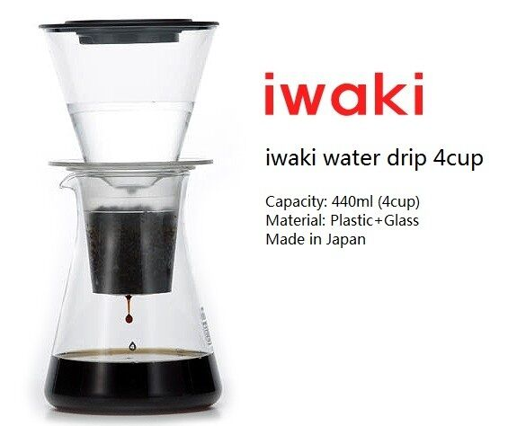 IWAKI Water Drip Coffee Cold Brew Coffee Maker 4 Cup eBay