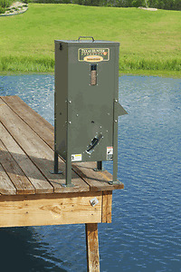 Texas hunter df125 directional pond lake fish feeder ebay for Fish feeder for pond