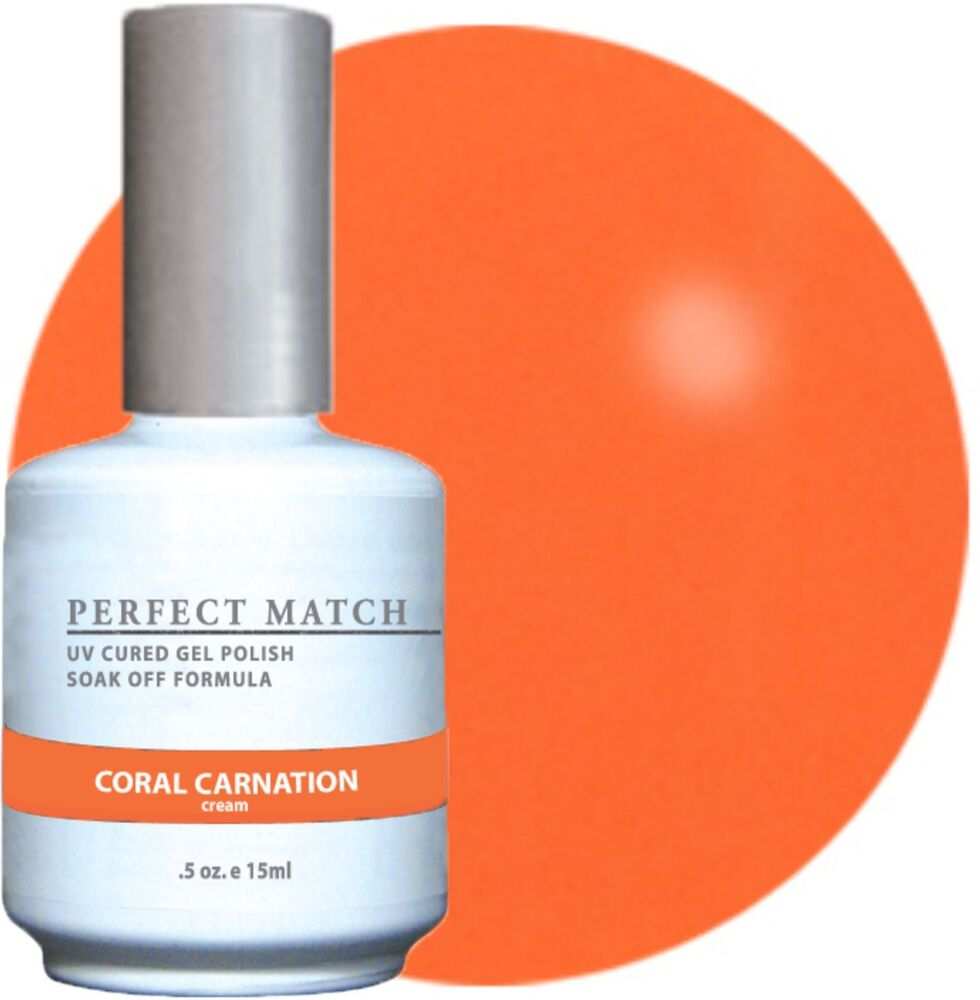 LeChat Perfect Match Lacquer + Gel Nail Polish Coral