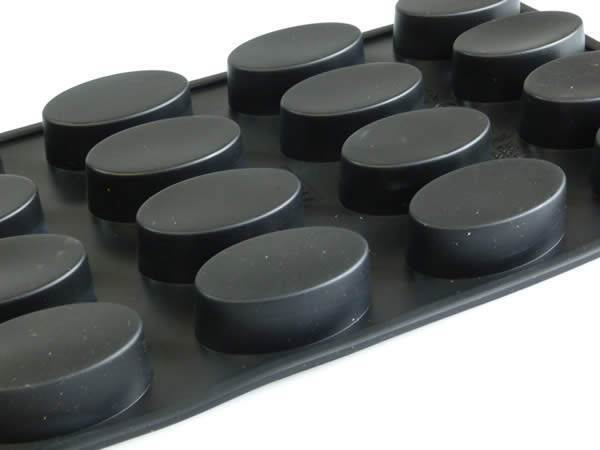 16 Oval Mini Friand Silicone Cake Mould Bakeware Pan Tin