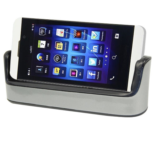 dual sync charging dock cradle charger micro usb cable for blackberry z10 ebay. Black Bedroom Furniture Sets. Home Design Ideas