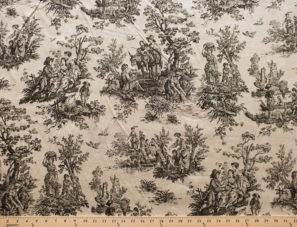 medieval castle folklore toile cotton duck fabric print sold by the yard ebay. Black Bedroom Furniture Sets. Home Design Ideas