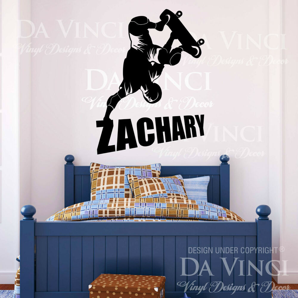 skater wall room custom name vinyl wall decal sticker ebay