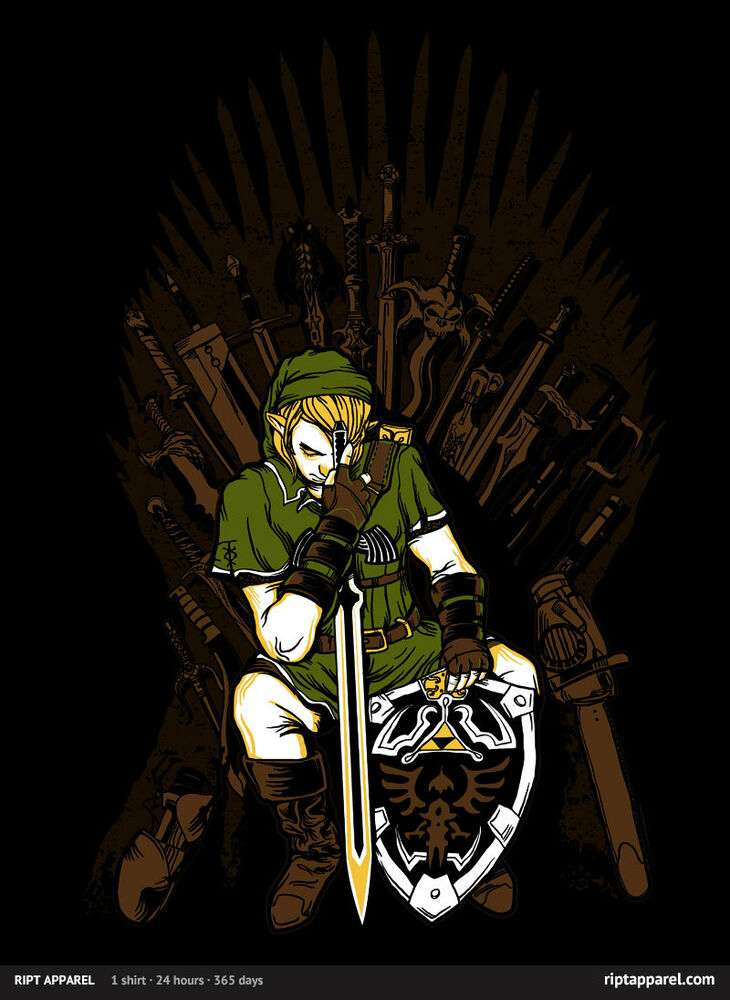 the legend of zelda game of thrones t shirt ript tee final fantasy vii god war ebay. Black Bedroom Furniture Sets. Home Design Ideas