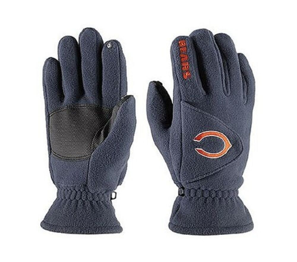 nfl chicago bears 180 039 s reebok winter fleece gloves w