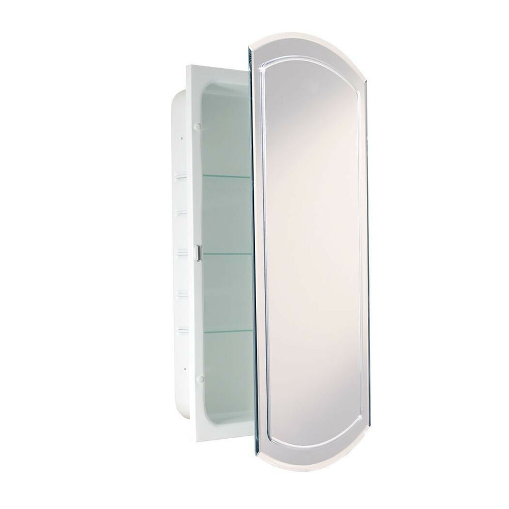v groove beveled eclipse mirror recessed metal bathroom
