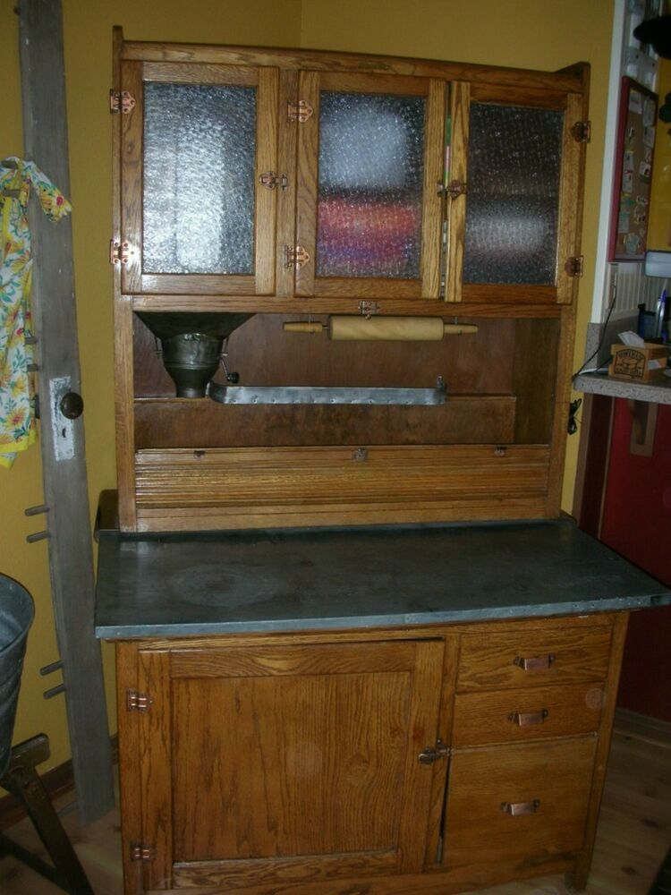 antique oak kitchen cabinet antique oak hoosier kitchen cabinet ebay 10665