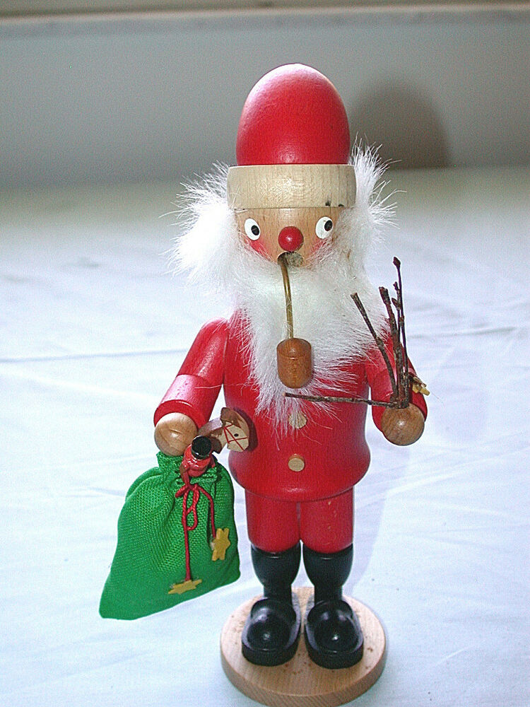 Toys From Santa : Beautiful vintage hand made w germany santa with bag of