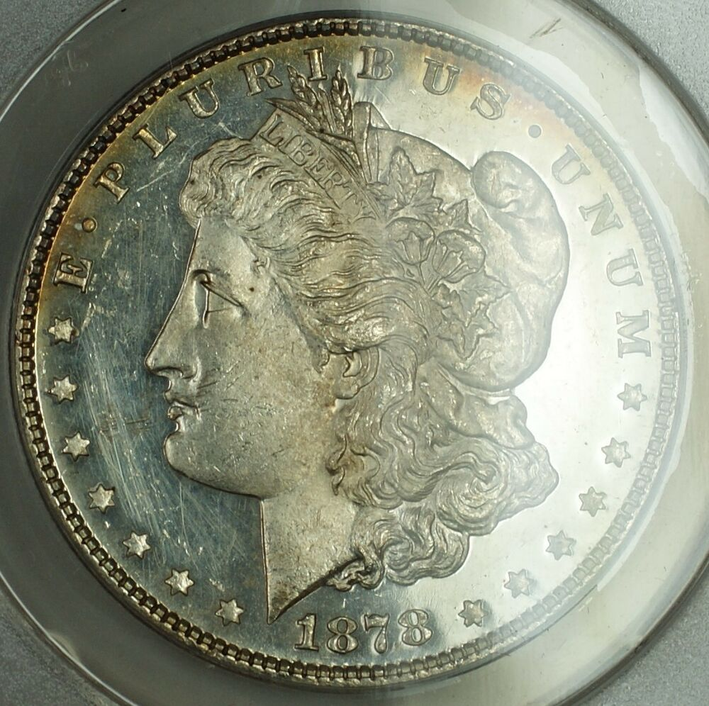 1878 7tf Morgan Silver Dollar Anacs Ms 60 Details