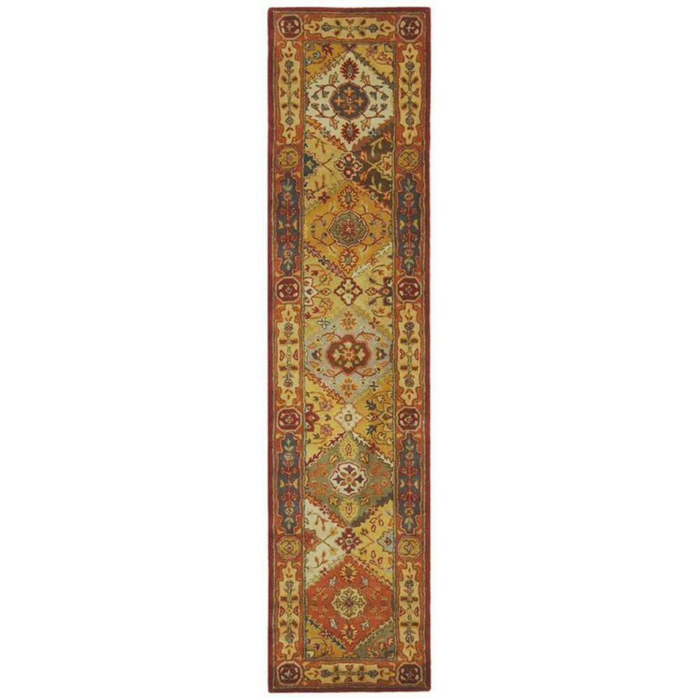 Rug Runner Rug: Multi-Colored Hand-Tufted Heritage Wool Area Rug Runner 2