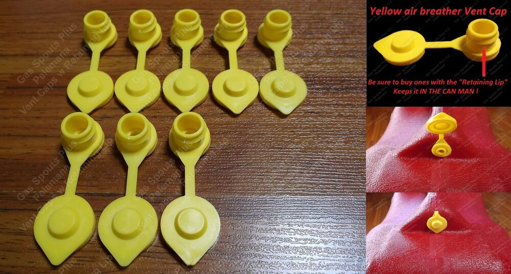 8 Pack New Yellow Vent Caps Gas Can Breather Midwest Blitz