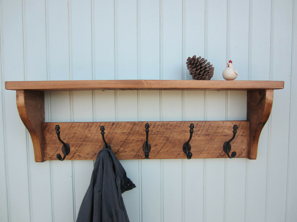 18 shabby chic shelf with hooks 8 beautiful rustic country