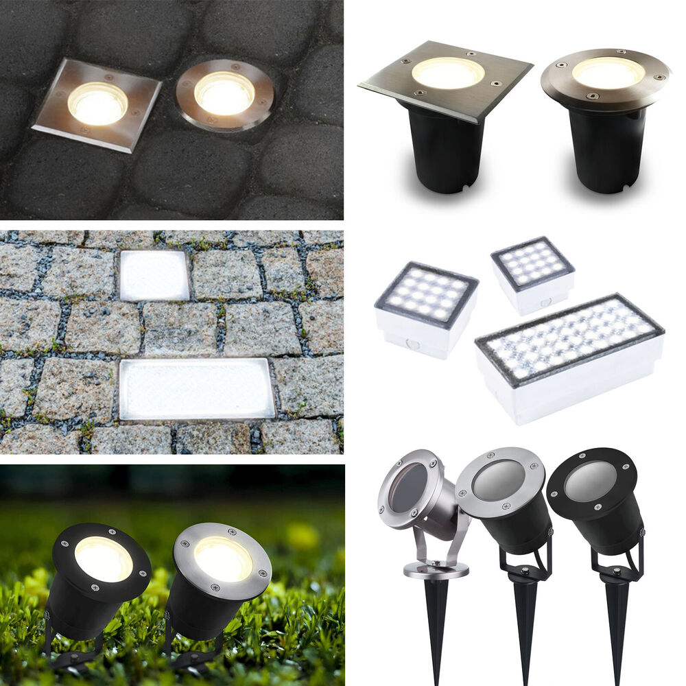 led bodenleuchte bodeneinbaustrahler gartenstrahler pflasterstein ip67 ip68 230v ebay. Black Bedroom Furniture Sets. Home Design Ideas