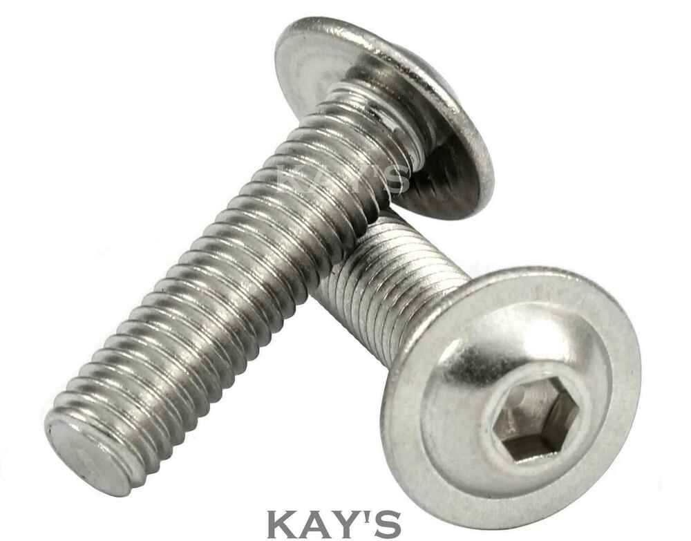 M mmØ a stainless steel flanged button head bolts