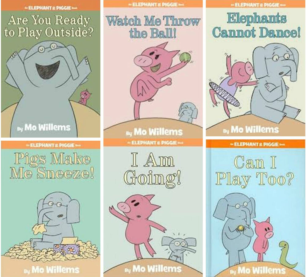 Matched Series Book Cover ~ Mo willems elephant piggie series matched hardcover
